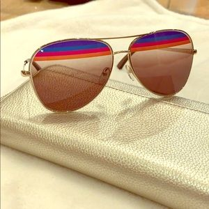 Authentic Salvatore Ferragamo Striped Sunglasses